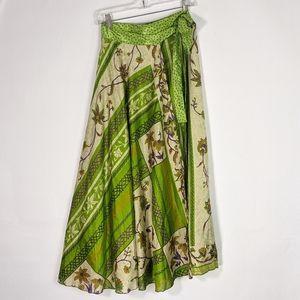 Unbranded upcycled sari wrap skirt boho gypsy